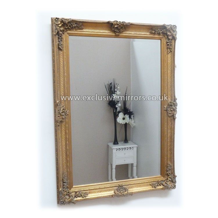 3eca5e1d88e Abby Mirror Rectangle Gold 112 x 81cm  EE822  - £139.50 - Mirrors for Every  Interior from Exclusive Mirrors