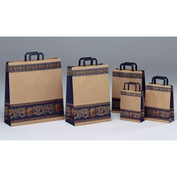 9ffb55996 Bolsas de papel kraft con diseño elegante. | Ideas | Shopper bag ...