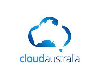 Map Of Australia Logo.Cloud Australia Logo Design Perfect Australian Cloud Brand Br