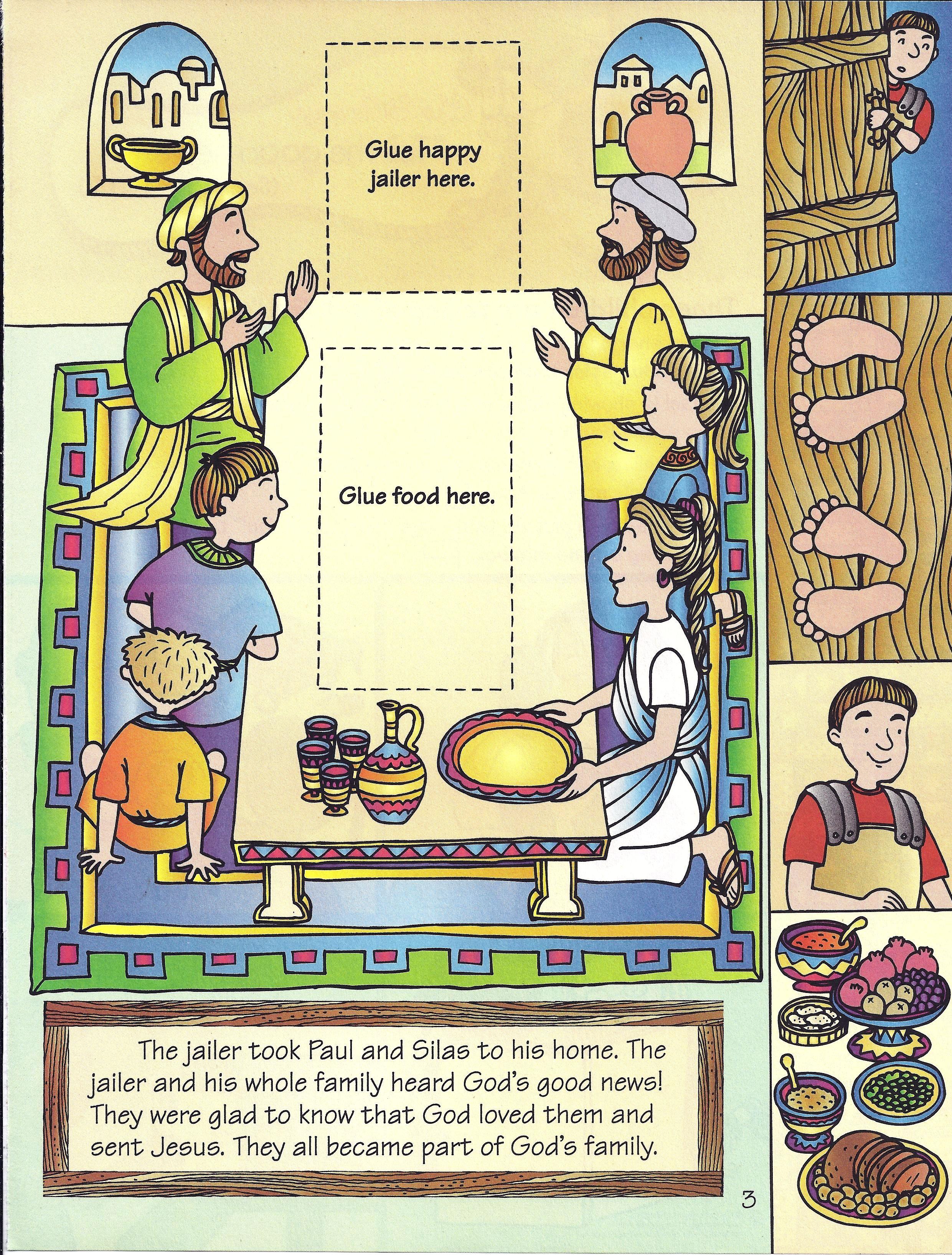 Paul and silas | Deciples | Pinterest | Sonntagsschule und Geschichte