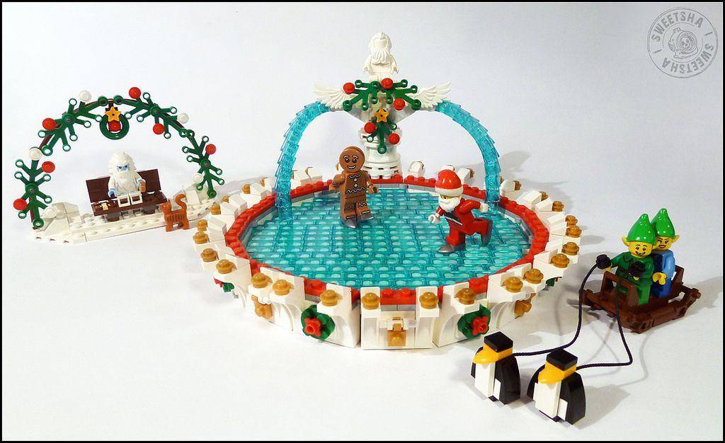 Christmas Village Ice Skating Rink.Lego Winter Village Skating Rink Love Of Lego X Mas Winter