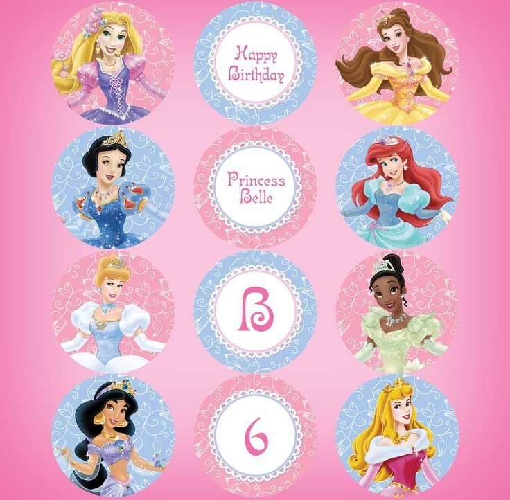 This is a graphic of Witty Disney Princess Cupcake Toppers Free Printable