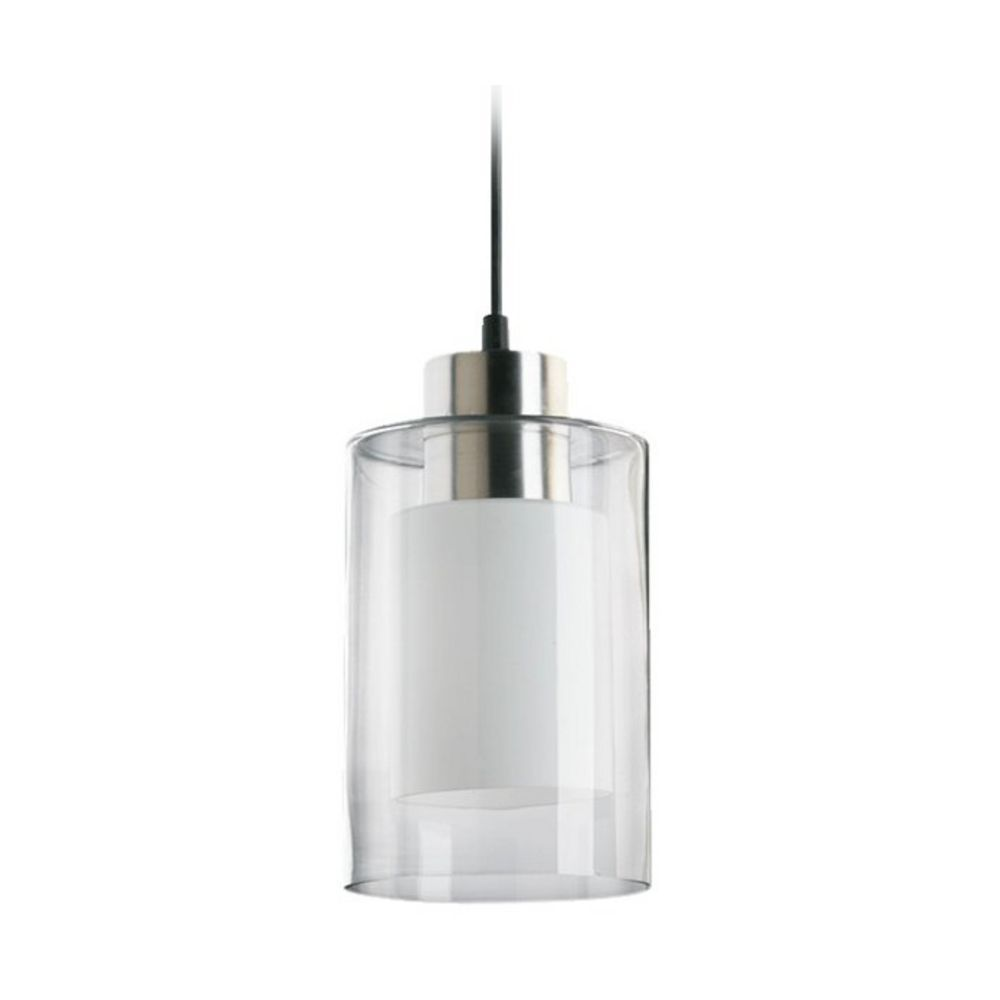 Modern Mini Pendant Light With Double Cylinder Glass Shades