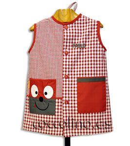 Batas verano y delantales bordado carita casa pinterest sewing patchwork y baby shower - Batas de casa para ninos ...