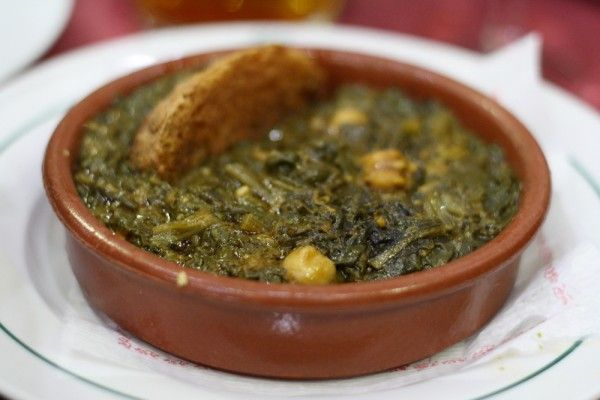 One of Seville's most iconic tapas – Espinacas con Garbanzos (Spinach and Chickpeas)