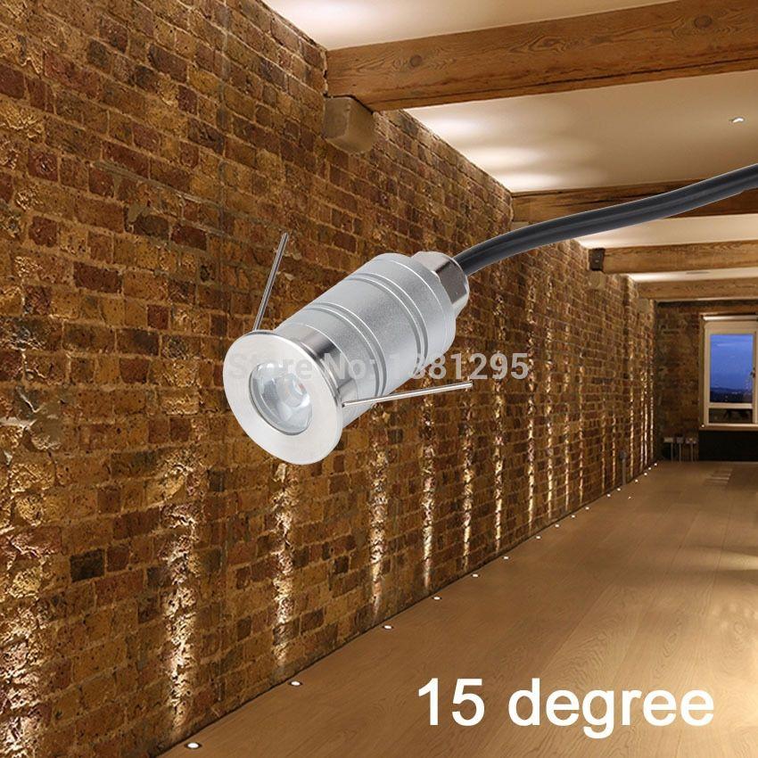 Narrow Beam External Outdoor Garden Led Uplight 12v 1w Mini Spotlight Wall Uplighting Recessed Floor Deck Lig Deck Lighting Recessed Spotlights Wall Uplighters