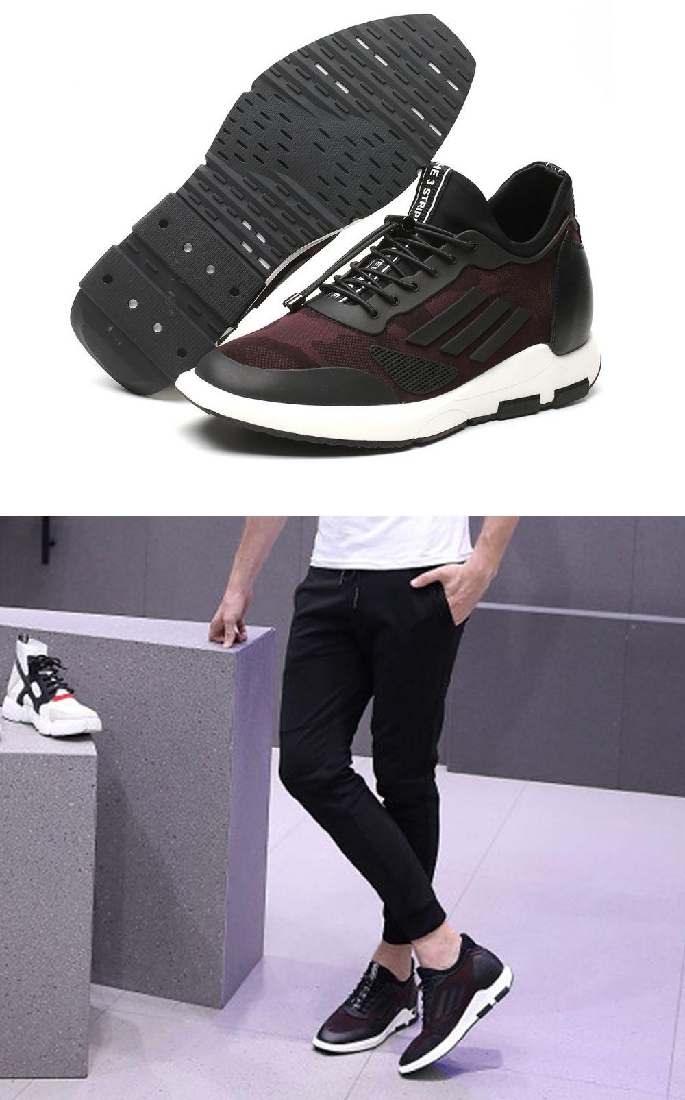 Sportowe Podwyzszajace Buty Meskie Dodajace 7cm Wzrostu Obuwie Codzienne Modny Design Top Sneakers Hummel Sneaker Sneakers