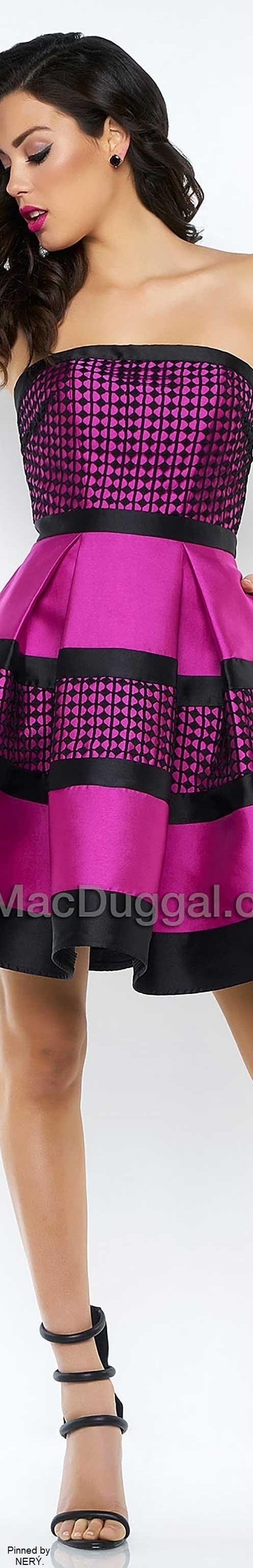 Mac Duggal Prom Dress 2017-MagentaBlack | MacDUGGAL◇▫◇ | Pinterest