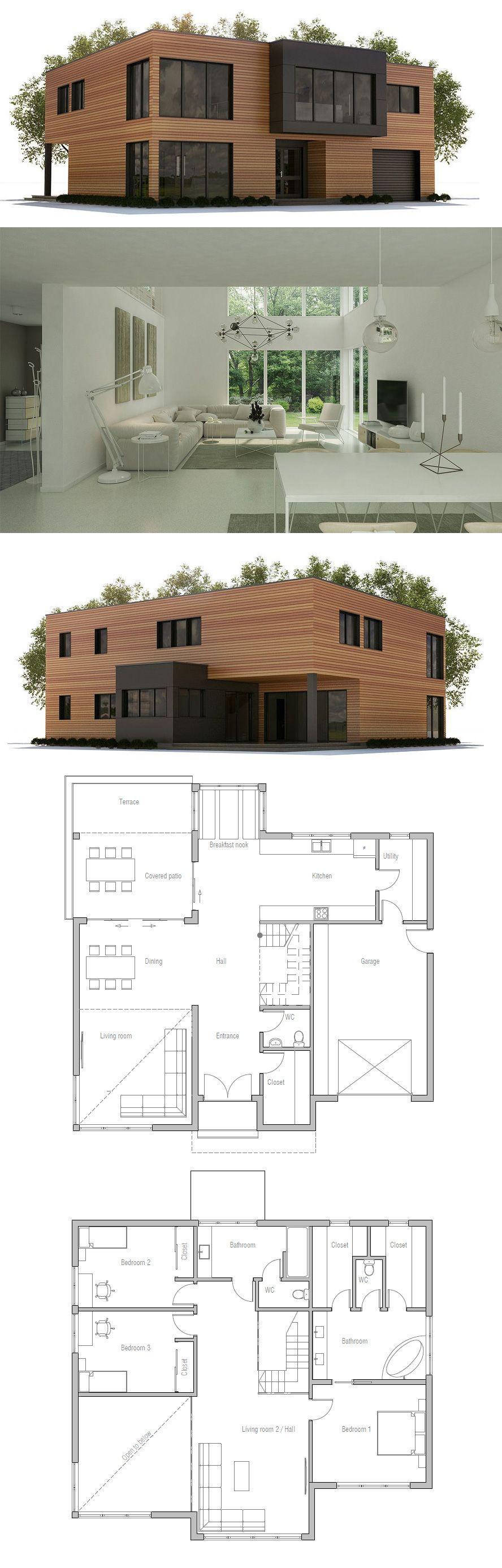 House plan arq casas casas modernas y casas contenedores for Casa minimalista 300m2