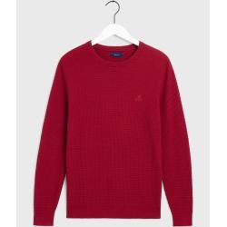 Photo of Gant Signature Weave Pullover (Rot) GantGant
