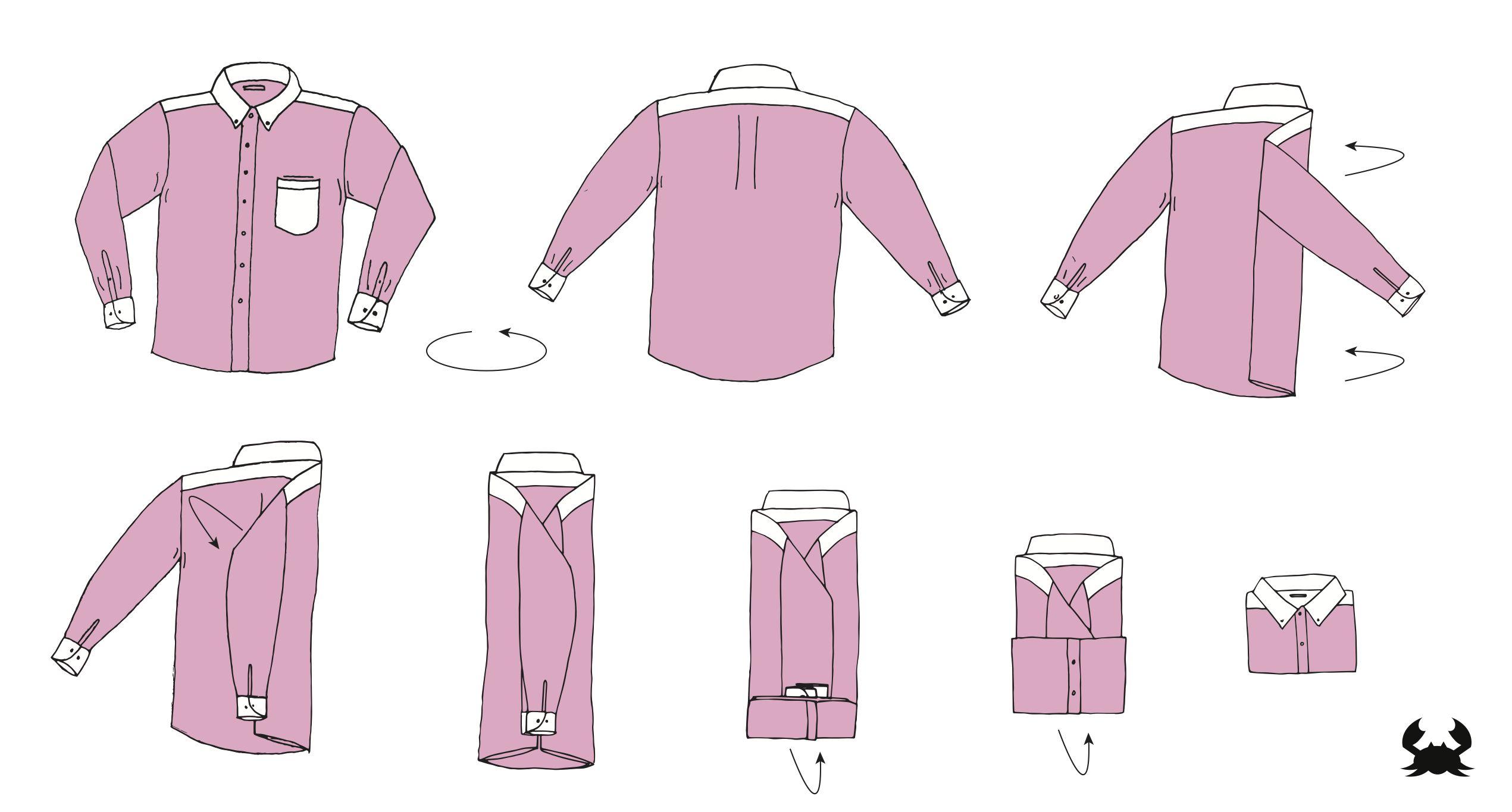 how to fold dress shirt