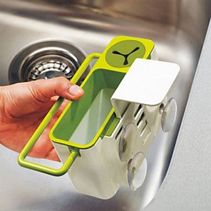 Hot Wash Sponge Sink Tub Dish Cloth Storage Rack Holder Suction Cup Kitchen OSTR