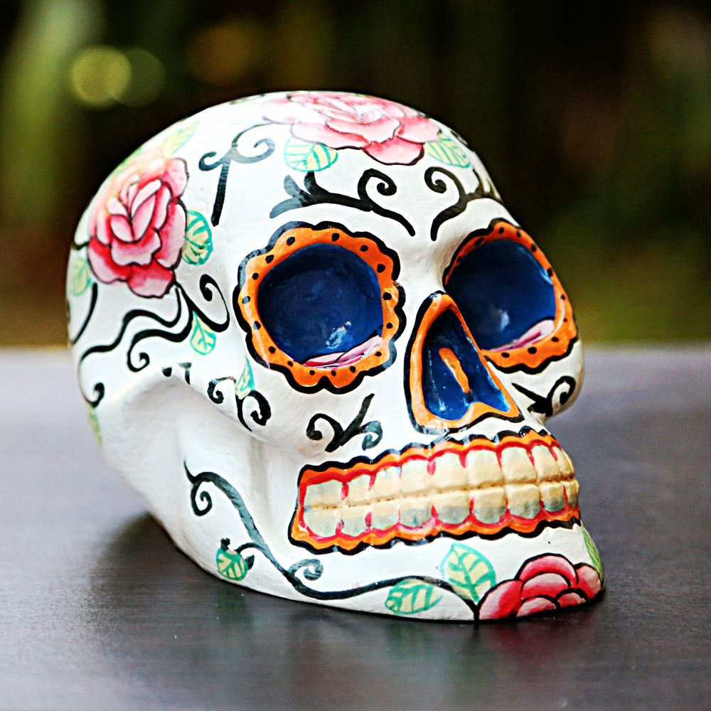 New hand painted sugar skull decorationday of the deadcandy skull new hand painted sugar skull decorationday of the deadcandy skullceramic dailygadgetfo Choice Image