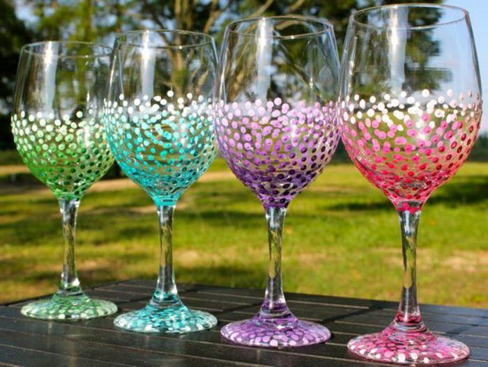 1001 Ideen wie Sie kreativ Weinglser dekorieren knnen  DIY Ideen  Weinglas Diy weinglser