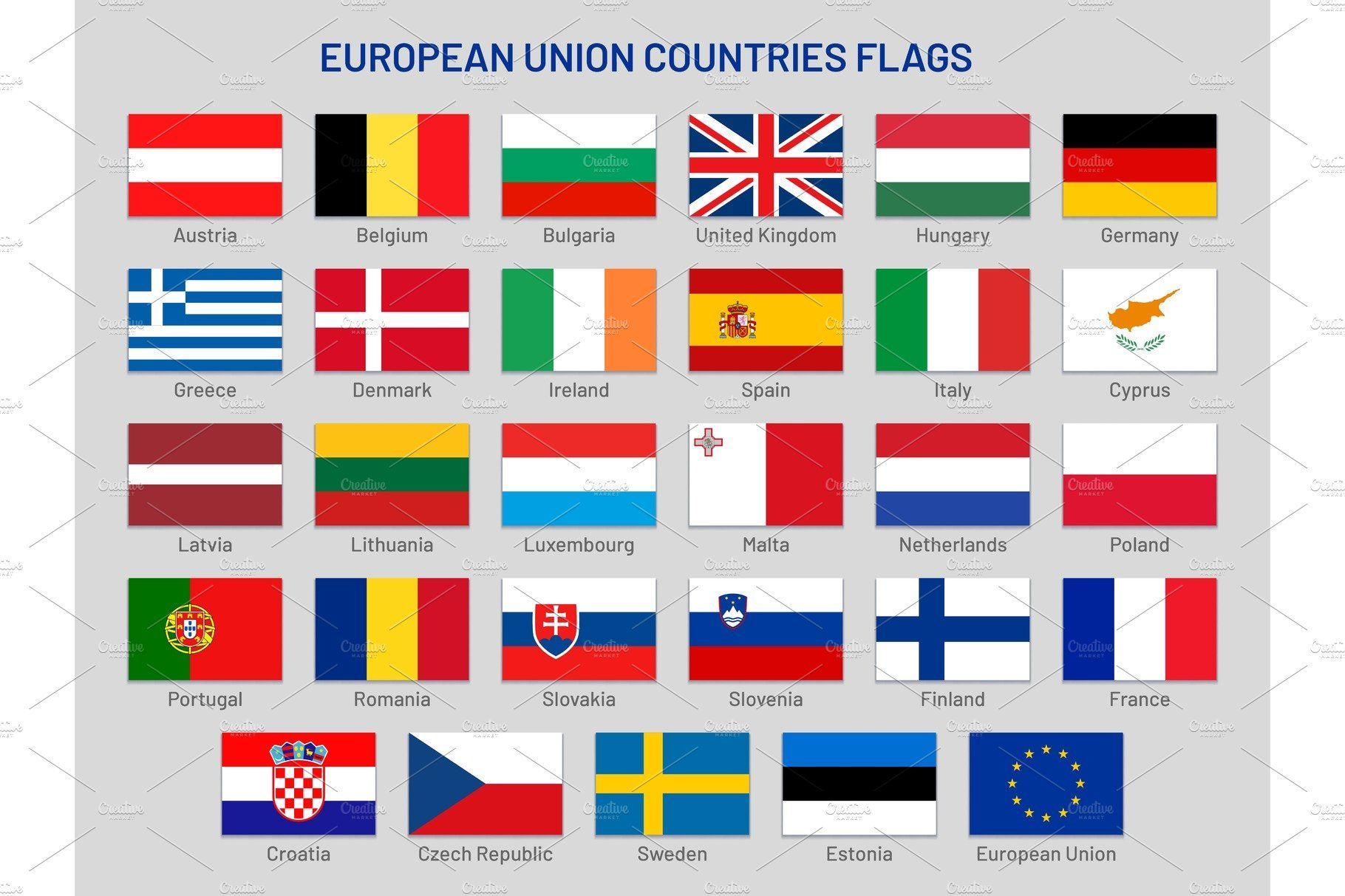 European Union Countries Flags Countries And Flags European Flags World Country Flags