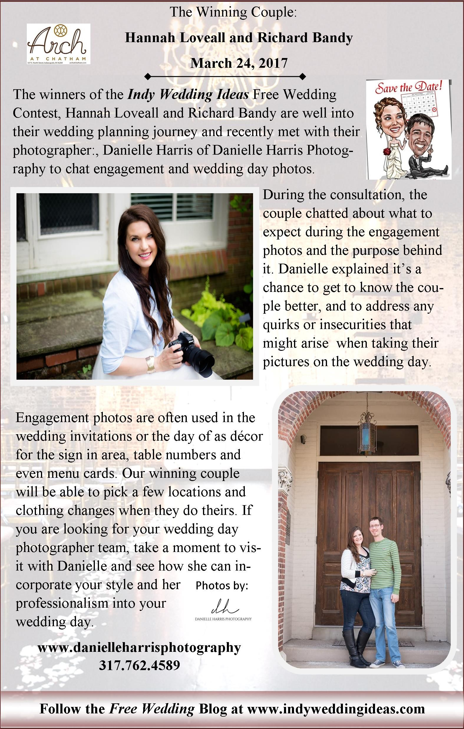 Danielle Harris Photography A The Arch At Chatham With Winners Of Our Free Wedding Giveaway