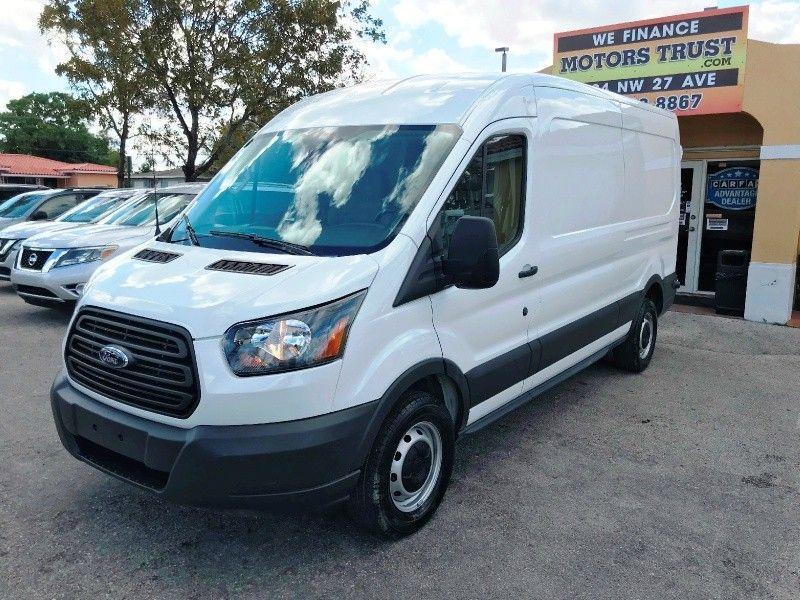 2018 Ford Transit Van T 150 148 Med Rf 8600 Gvwr Sliding Rh Dr White Comm Pickup Van 3 Doors 24500 To