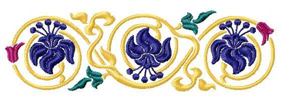 Elegant borders machine embroidery designs