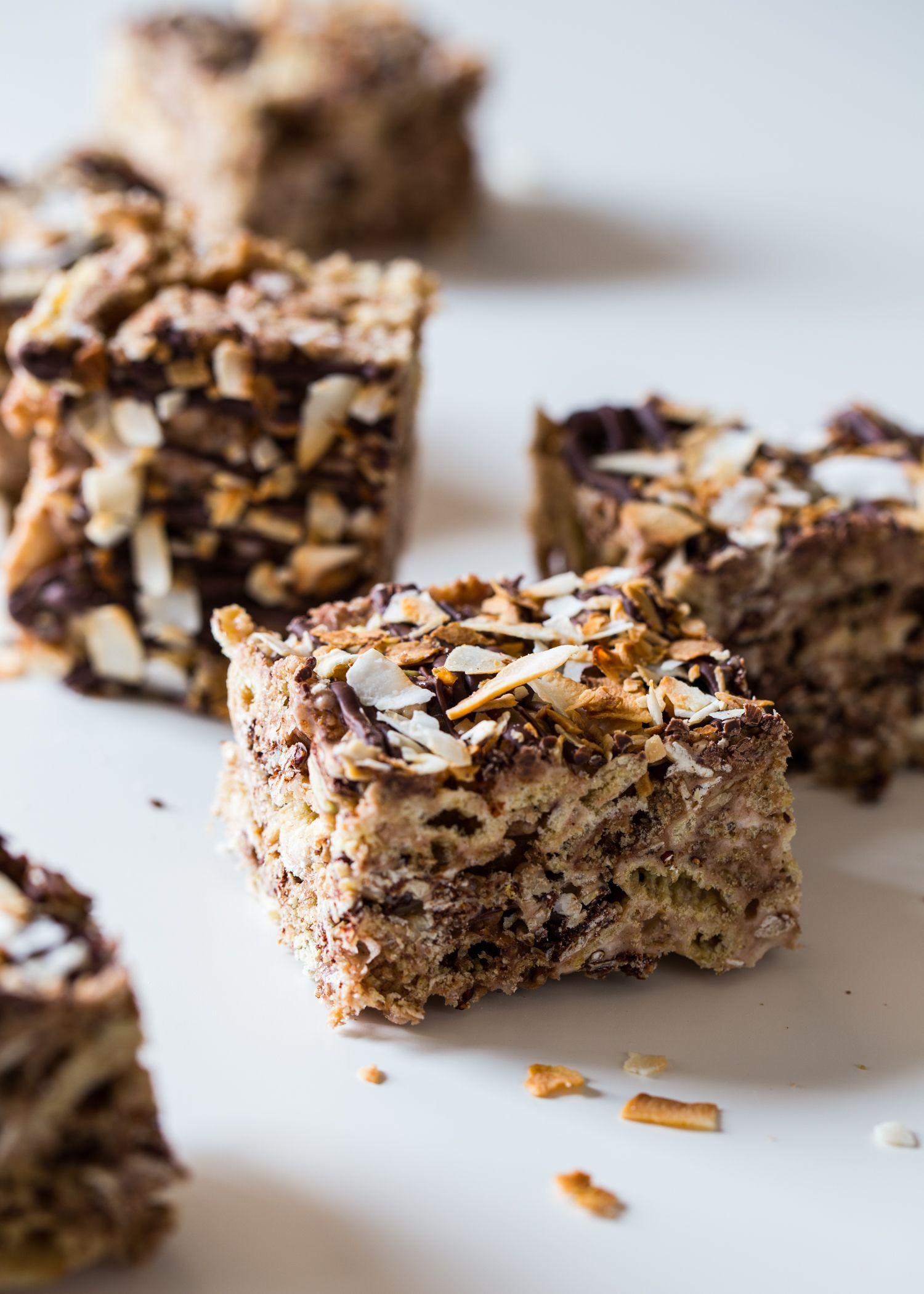 Chocolate Coconut Marshmallow Treats - Jelly Toast #marshmallowtreats