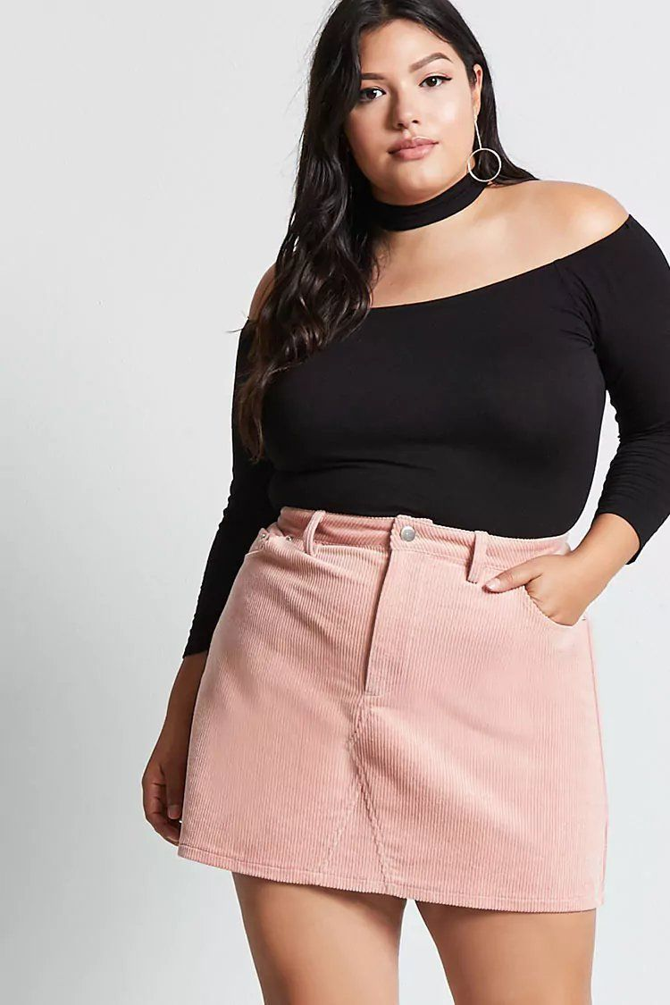 a5b75add894 Product Name Plus Size Corduroy Mini Skirt