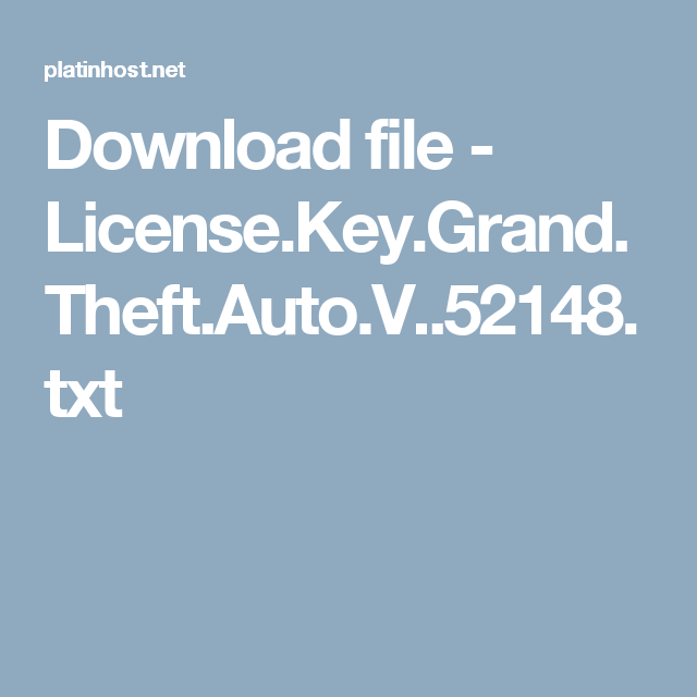 gta 5 download key.txt