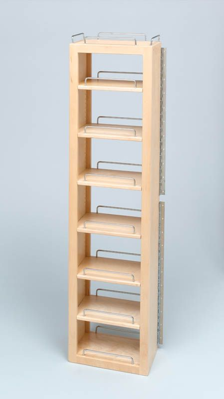 Rev A Shelf 4wsp18 45 The 4wp Series Swing Out Wood Pantry System Features Amenities Competitors Don T Offer From Adjust Rev A Shelf Shelves Pantry Cabinet