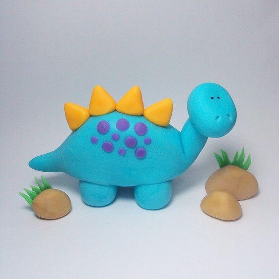 Dinosaur Trio Cake Topper Set for Dinosaur von SweetTouchDecor #dinosaur