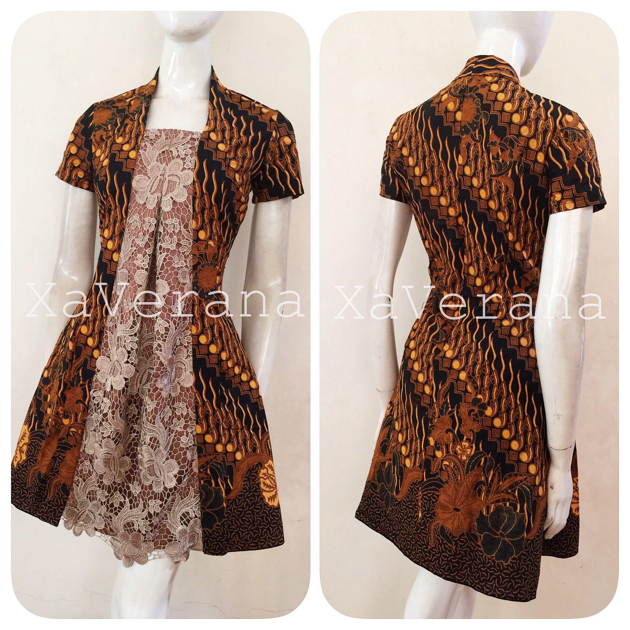 Kebaya kutubaru dress Instagram xaverana  batik  Pinterest