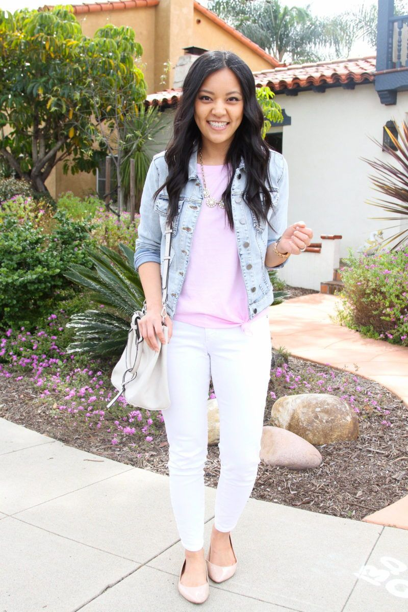 How To Style Jean Jackets 12 Outfit Ideas To Copy Cleo Madison Dressy Casual Outfits Jean Jacket Outfits Dressy Casual [ 1200 x 800 Pixel ]