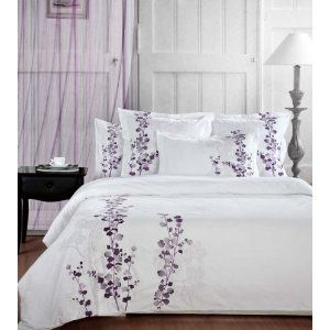 White Bedspread With Purple Flowers With Images White