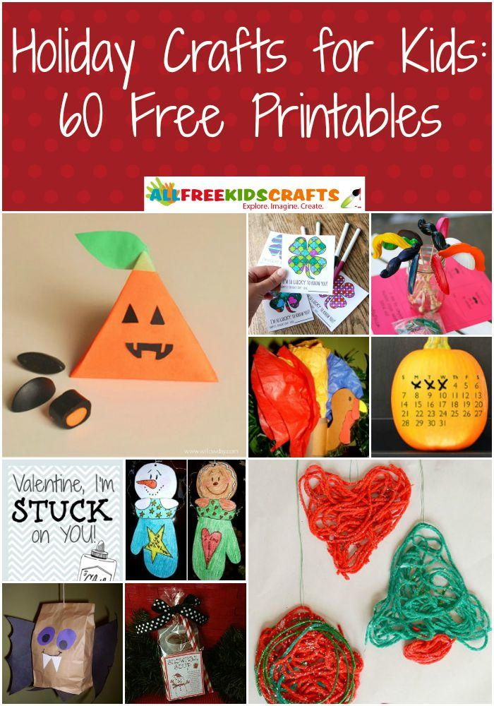 Holiday Crafts For Kids 60 Free Printables Free Printables