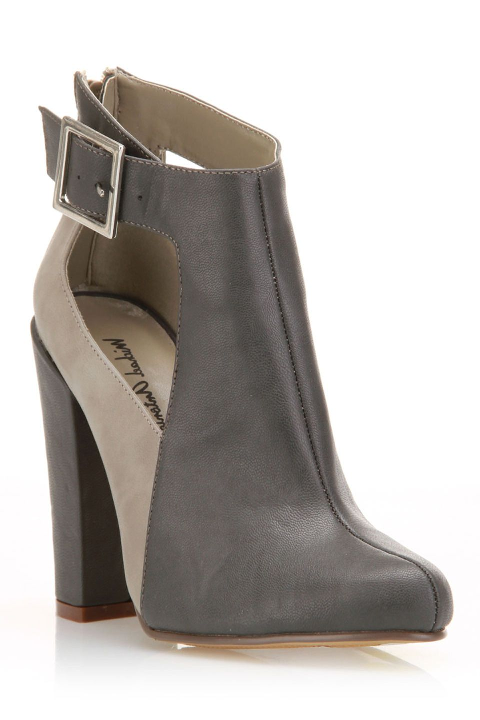 Michael Antonio Manning Chunky Heel Ankle Boot In Gray