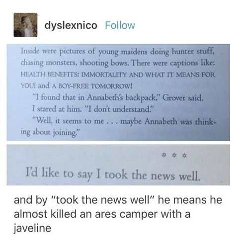 He wanted to stab EVERY eternal maiden   Percy Jackson in