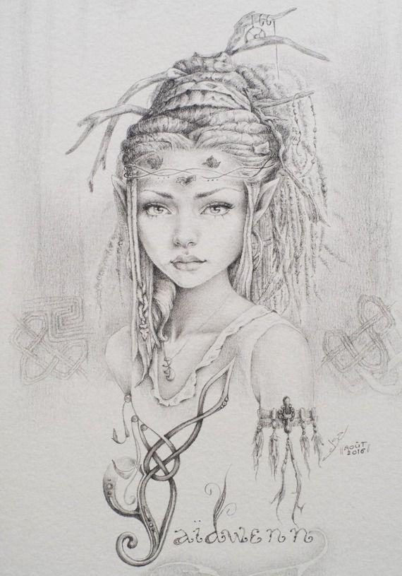 Jeune elfe gaidwenn forest spirit b pinterest elfes dessin et f e - Manga coloriage elfe ...