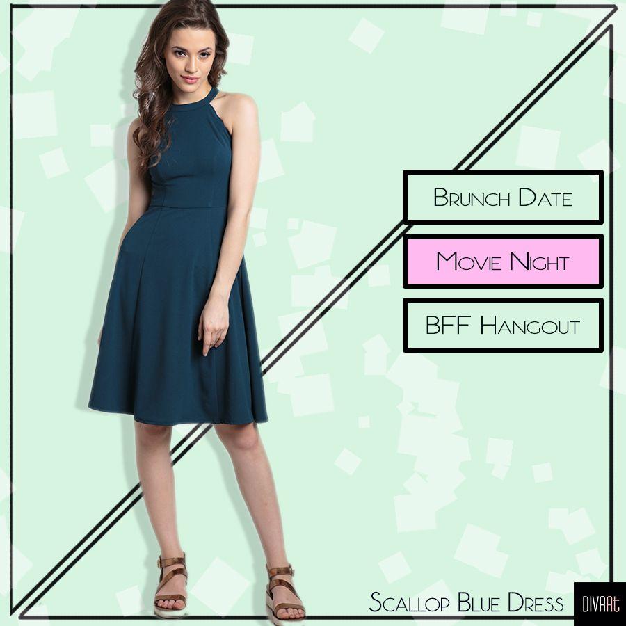Ft: Scallop Blue Dress  Product SKU🔍 D0080