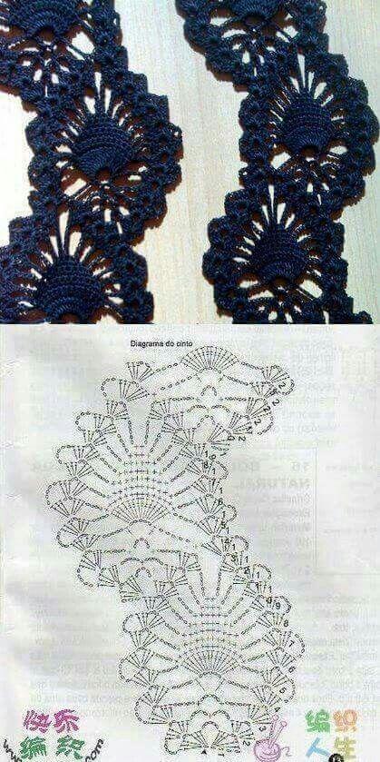 Pin de Carmen Obando en puntillas a crochet   Pinterest   Puntos ...