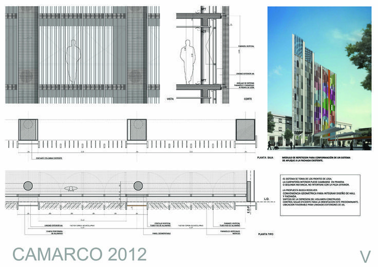 Resultado de imagen para dibujar parasoles horizontales en for Parasoles arquitectura