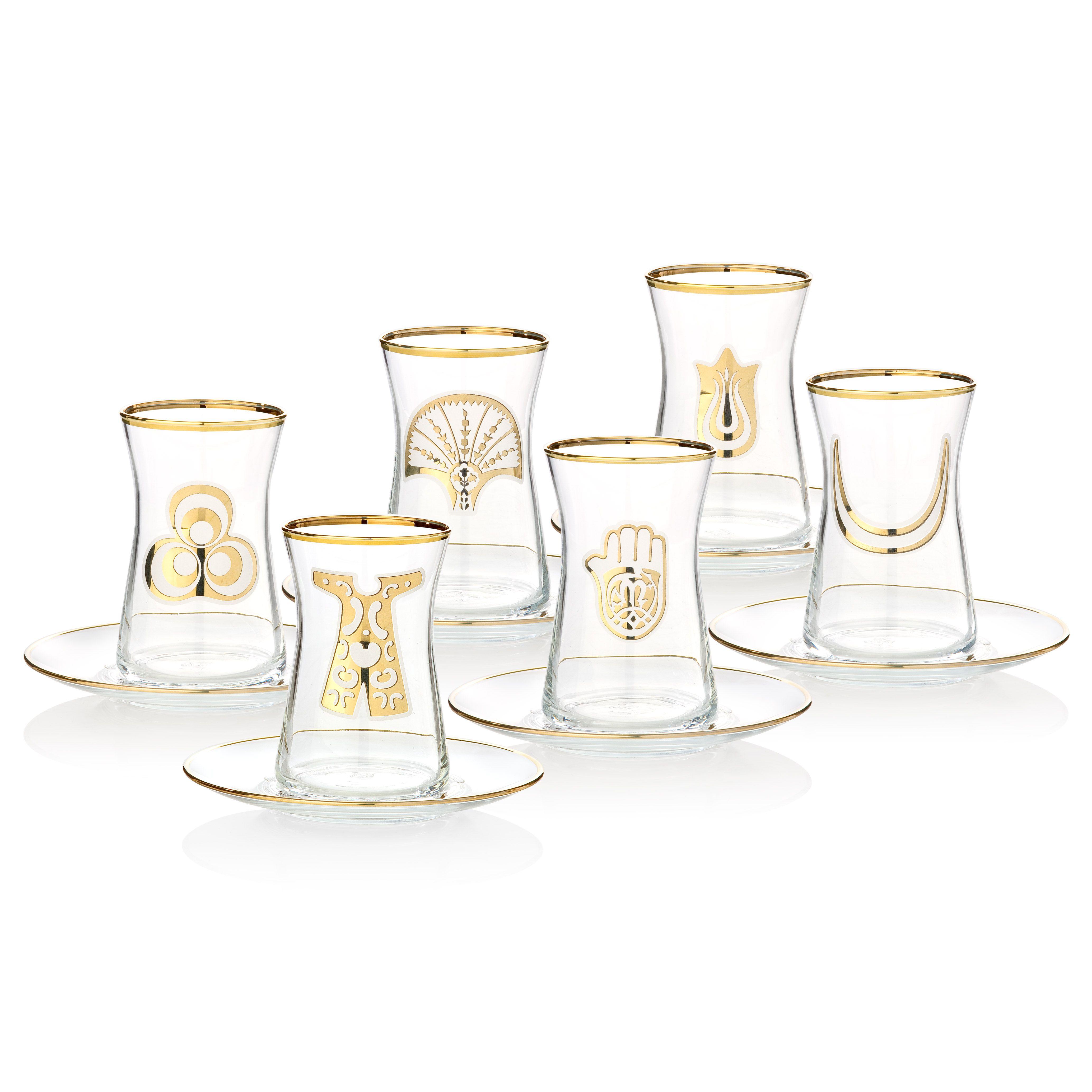 bernardo osmanlı serisi Çay seti  tea glass set bernardo glass  - bernardo osmanlı serisi Çay seti  tea glass set bernardo glass ottoman