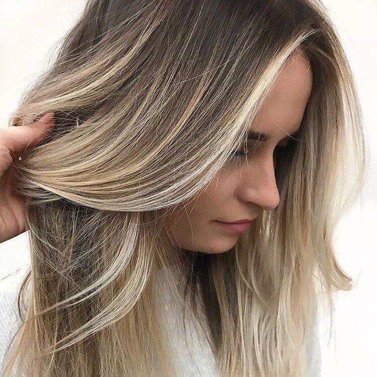 Картинки мелирование на светло русые волосы