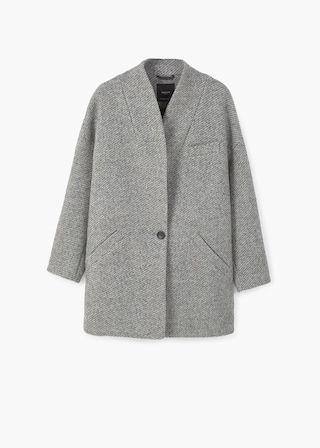 Manteau cocoon en laine – Femme