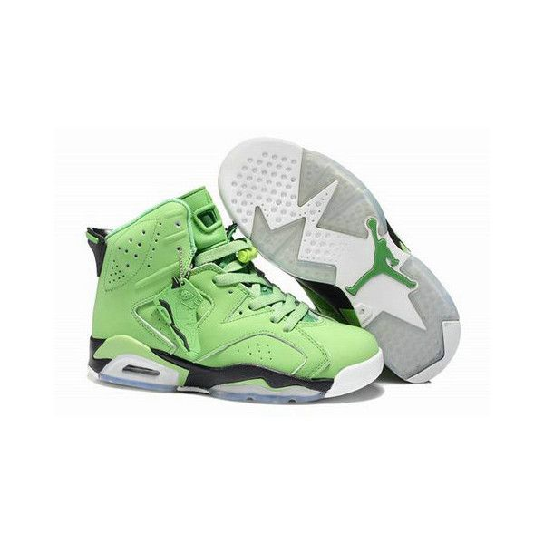 official photos f5504 8fb97 Air Jordan 6 Retro Dark Green Black White ( 55) ❤ liked on Polyvore  featuring nike