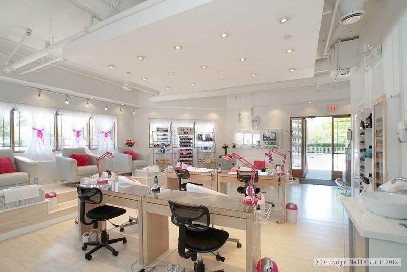Nailfx studio south surrey 39 s affordable luxury boutique - Nail salon interior design photos ...