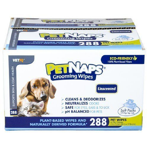 Pet Nap Pet Naps Grooming Wipes, Unscented 288 ea To