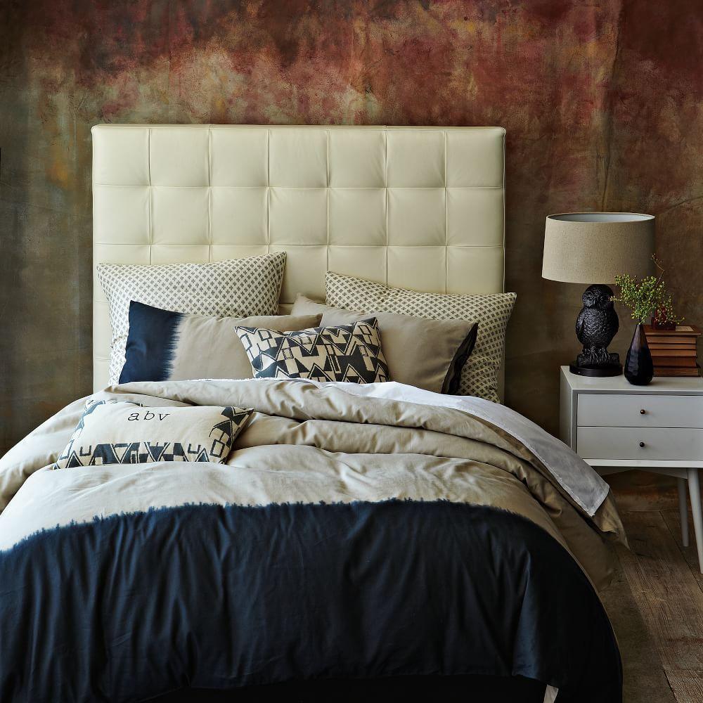 Best Mid Century Nightstand White Leather Headboard 400 x 300