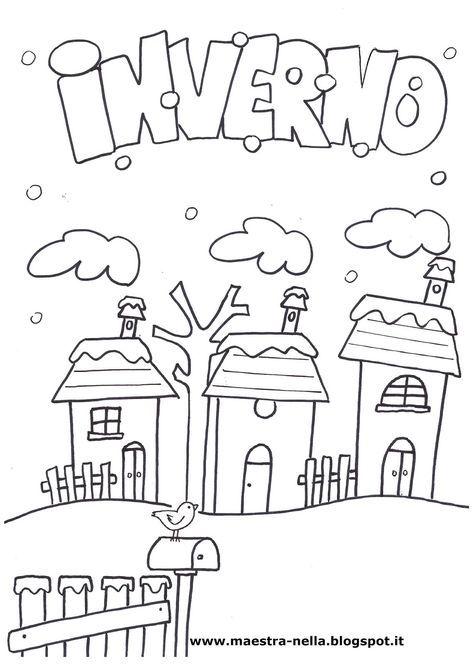 Disegni idee e lavoretti per la scuola dell 39 infanzia e for Disegni sull inverno