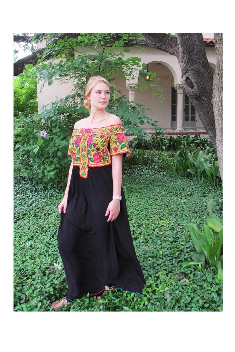 0e039b74e Oaxacan Juquila Gala Mexican Dress | Women's Mexican Dresses ...