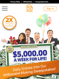 The PCH App screenshot thumbnail in 2019 Instant win