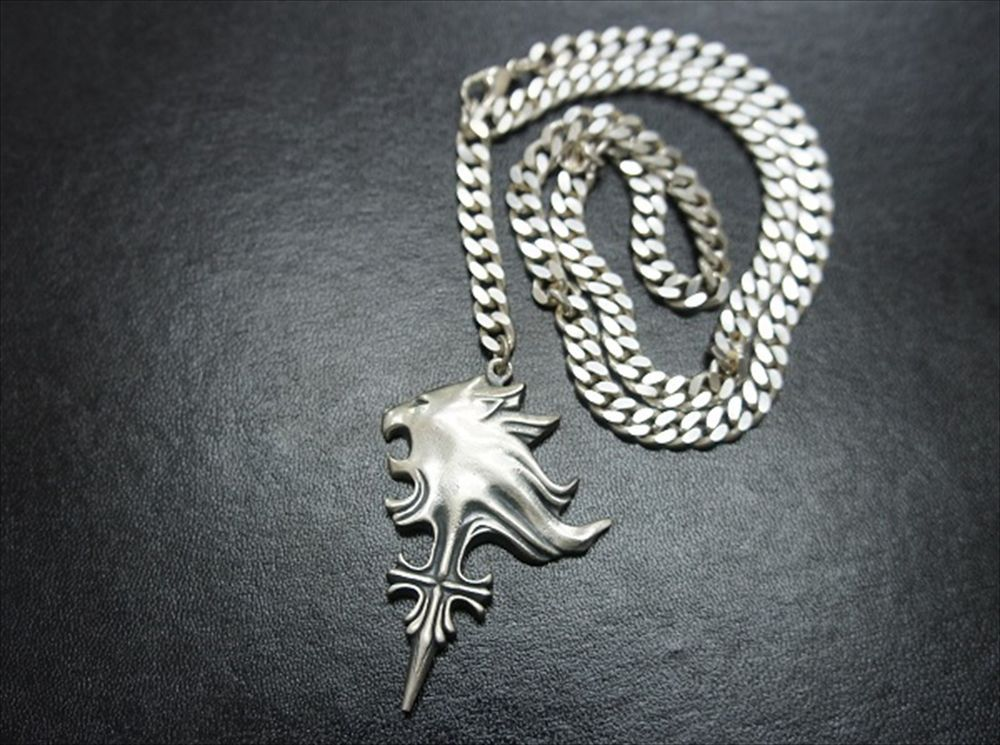 Lionheart Pendant Rare final fantasy viii sleeping lion heart square official 925 final fantasy viii sleeping lion heart square official 925 silver necklace square audiocablefo