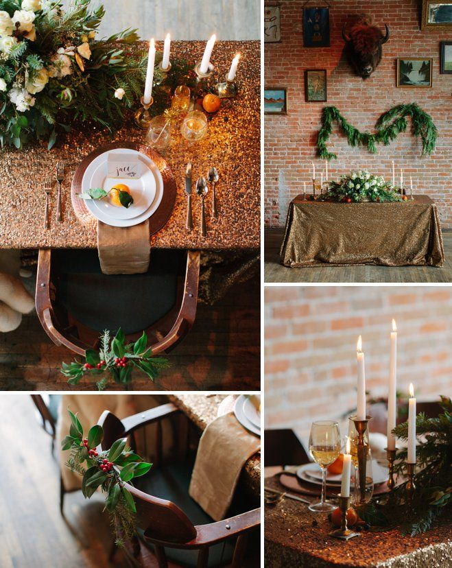 La Tavola Fine Linen Rental: New York Copper with Shimmer Biscuit Napkins | Design & Styling: Ira + Lucy, Florals: Julie Radion, Venue: Pengilly's Saloon, Photography: Radion Photography