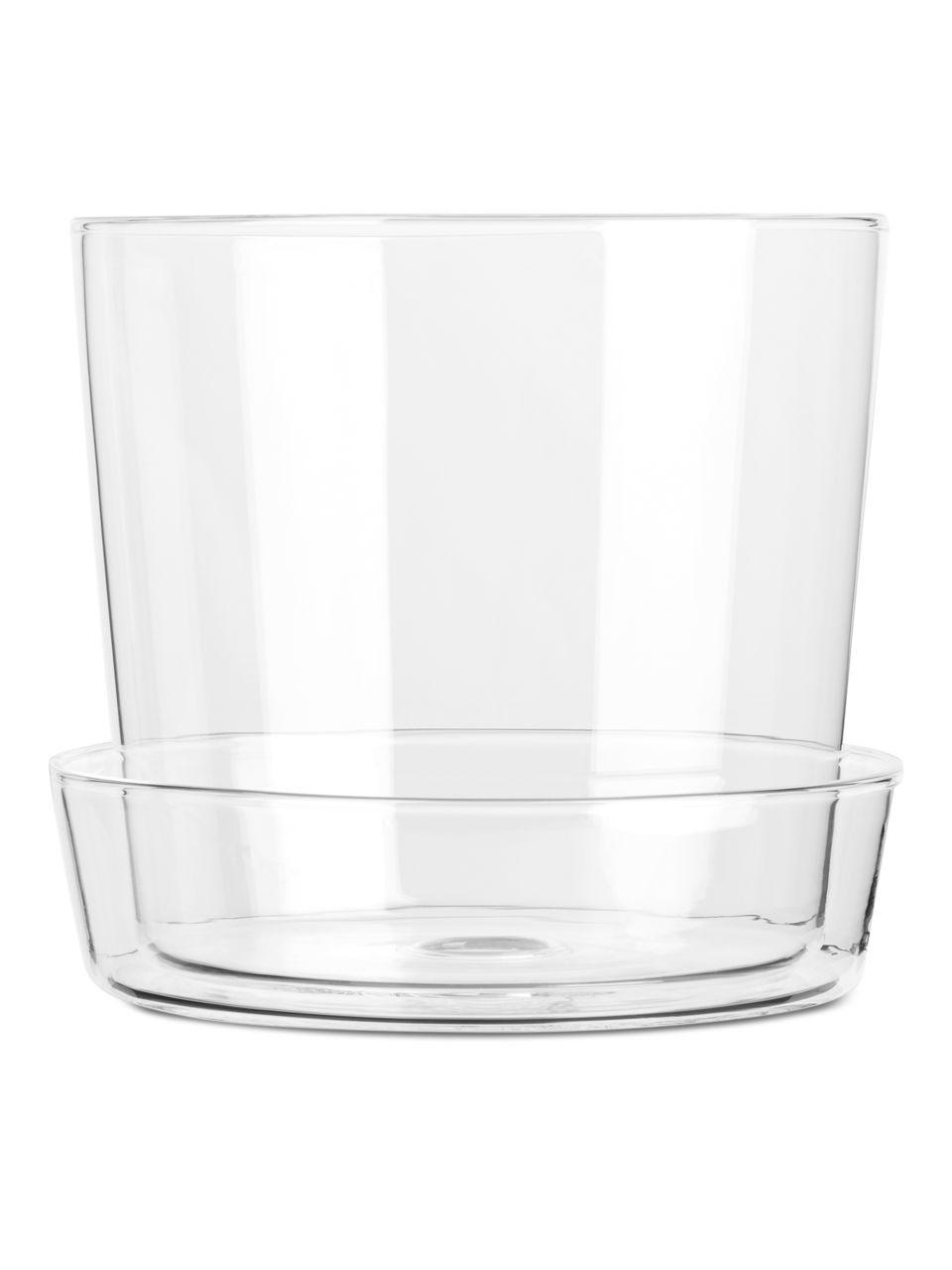 Glass Flower Pot 13 Cm Clear Home Arket In 2020 Flower Pots Terracotta Flower Pots Glass Planter